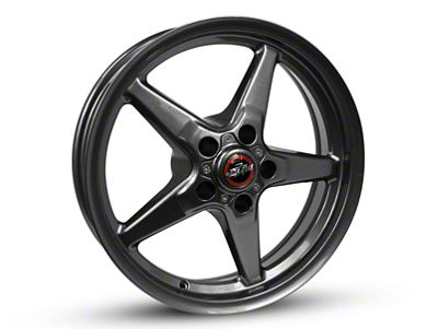Race Star 92 Drag Star Bracket Racer Metallic Gray Wheel - 17x7 - Front Only (87-93 w/ 5 Lug Conversion)