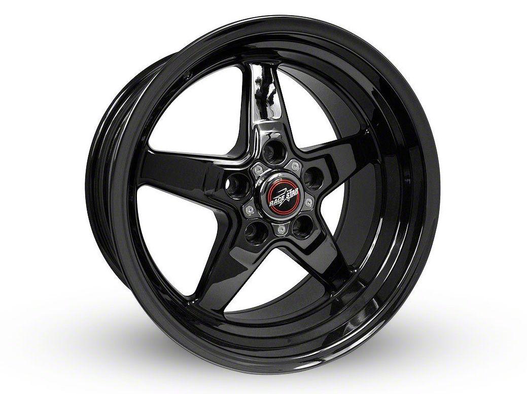 Race Star 92 Drag Star Dark Star Black Chrome Wheel - Direct Drill - 18x8.5 (15-19 GT, EcoBoost, V6)