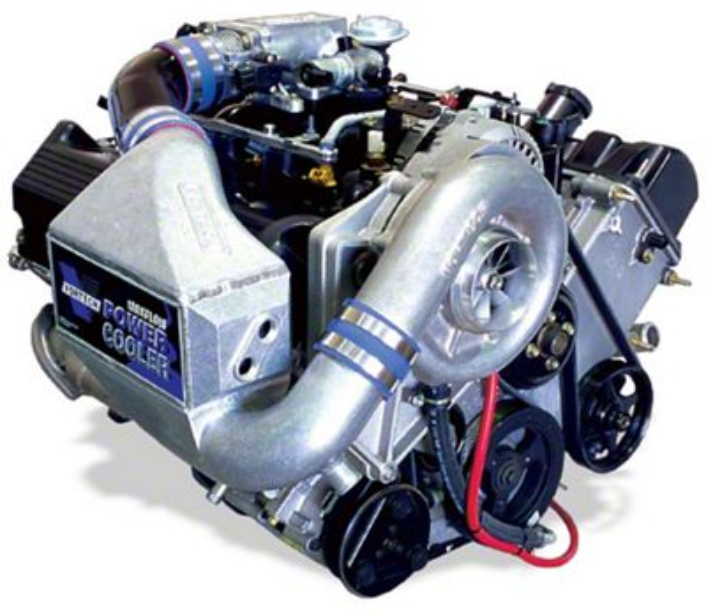 Vortech V-2 Si-Trim Supercharger Tuner Kit w/ Charge Cooler - Polished (99-04 GT)