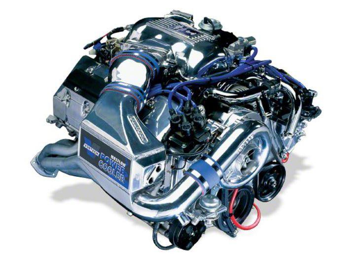 Vortech V-3 Si-Trim Supercharger Tuner Kit w/ Charge Cooler - Polished (96-98 Cobra)
