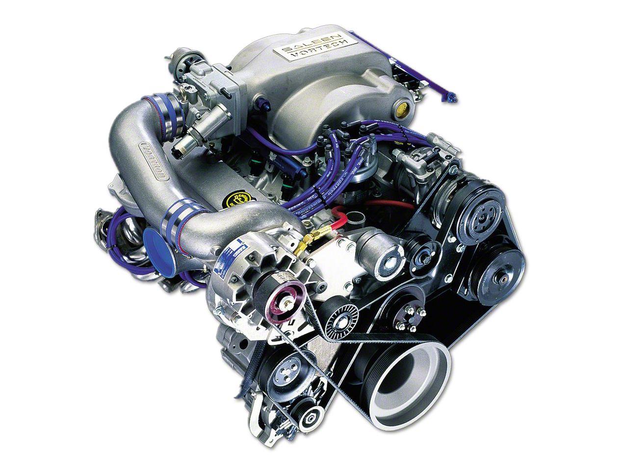Vortech V-7 YSI S.H.O. Supercharger Kit Passager Side - Satin (86-93 5.0L)