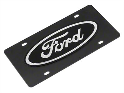 SpeedForm Carbon Steel License Plate w/ Ford Oval Logo (79-19 All)