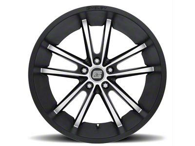 Shelby CS2 Black w/ Machined Face Wheel - 20x11 - Rear Only (15-19 GT, EcoBoost, V6)