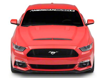 SpeedForm Ram Air Style Hood w/ Heat Extractor Vents - Unpainted (15-17 GT, EcoBoost, V6)