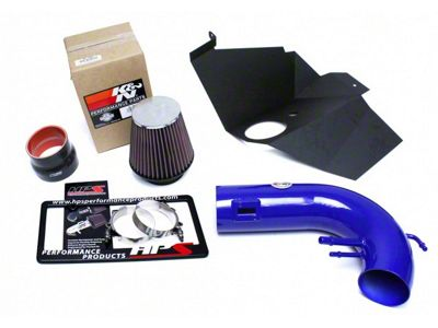 HPS Short Ram Air Cold Intake - Blue (15-17 GT)