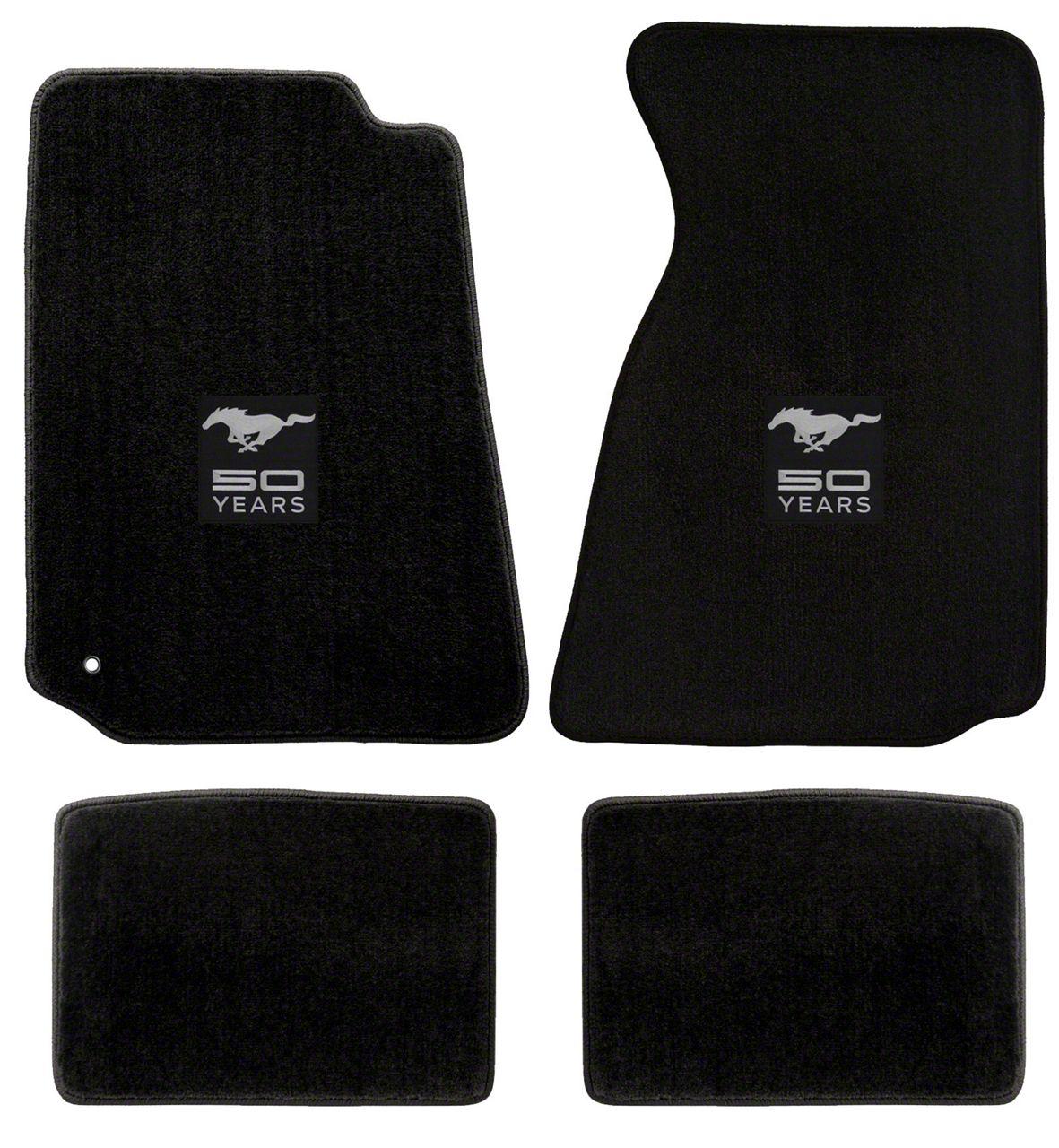 Lloyd Front & Rear Floor Mats w/ 50th Anniversary Logo - Black (99-04 All)