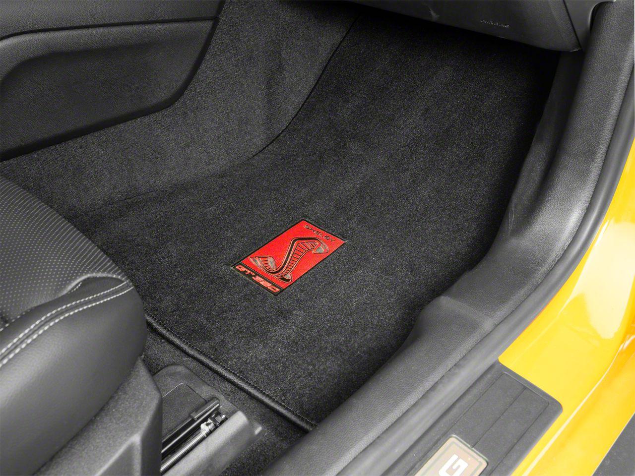 Lloyd Front & Rear Floor Mats w/ Shelby GT350R Badge - Black (15-19 All)