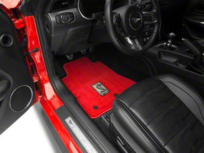 Lloyd Front & Rear Floor Mats w/ Shelby GT350 Logo - Red (15-19 All)