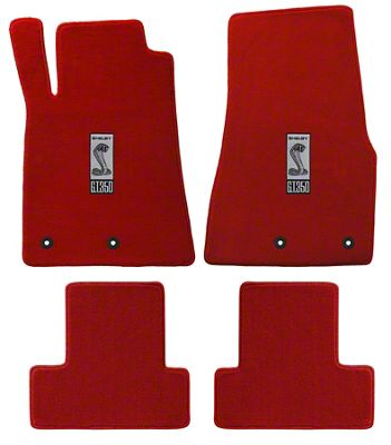 Lloyd Front & Rear Floor Mats w/ Shelby GT350 Logo - Red (13-14 All)
