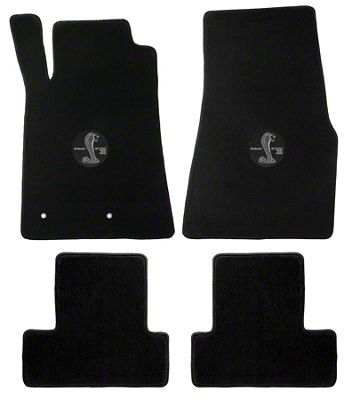 Lloyd Front & Rear Floor Mats w/ Shelby GT500 Circle Logo - Black (05-10 All)