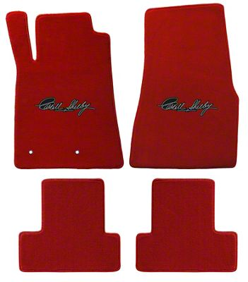 Lloyd Front & Rear Floor Mats w/ Carroll Shelby Signature - Red (05-10 All)