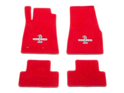 Lloyd Front & Rear Floor Mats w/ Shelby GT500 Logo - Red (05-10 All)