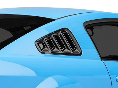 SpeedForm Quarter Window Louver - Gloss Black (05-09 Coupe)