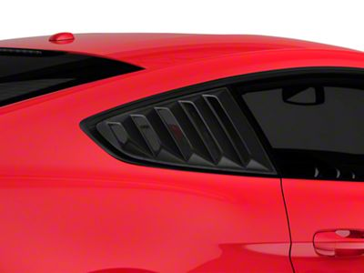 SpeedForm Vintage Quarter Window Louvers - Matte Black (15-19 Fastback)