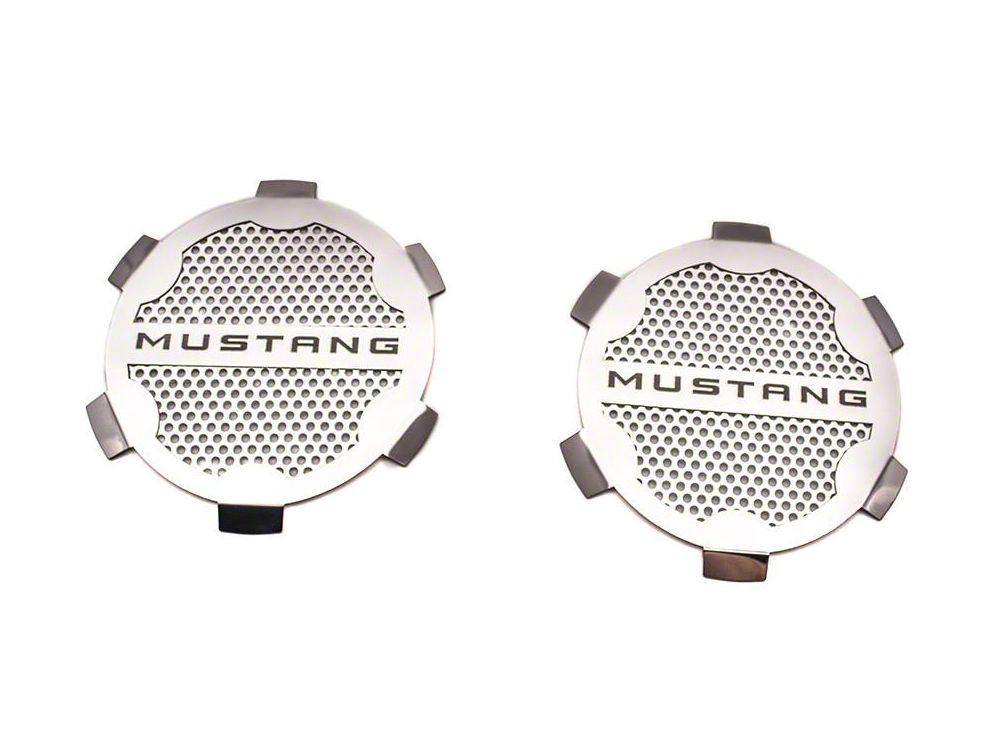 Door Speaker Trim w/ Mustang Lettering - Polished (05-09 All)