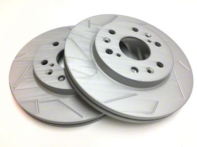 SP Performance Slotted Rotors w/ Gray ZRC - Rear Pair (15-19 GT, EcoBoost)