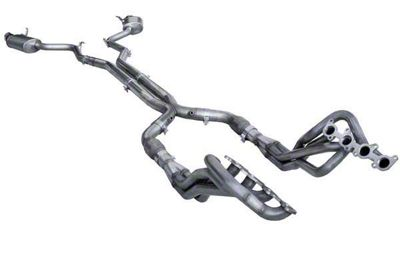 American Racing Headers 1-3/4 in. Long Tube Catted Headers w/ X-Pipe & Pure Thunder Cat-Back Exhaust (15-17 GT)