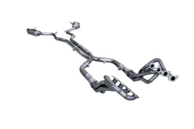 American Racing Headers 2 in. Long Tube Off-Road Headers w/ X-Pipe & Pure Thunder Cat-Back Exhaust (15-17 GT)