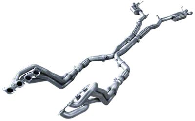 American Racing Headers 2 in. Long Tube Off-Road Headers w/ X-Pipe & Pure Thunder Cat-Back Exhaust (15-19 GT350)