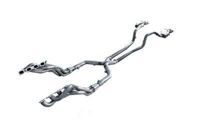 American Racing Headers 2 in. Long Tube Headers w/ Off-Road X-Pipe & Pure Thunder Cat-Back Exhaust System (13-14 GT500)