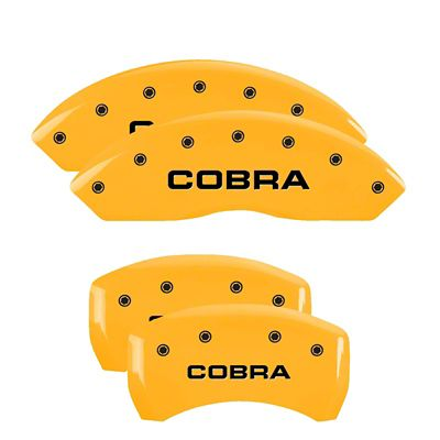MGP Yellow Caliper Covers w/ Cobra Logo - Front & Rear (05-09 GT, V6)