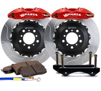 Sparta Evolution Saturn Front Big Brake Kit - Red (05-14 All)