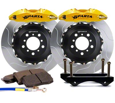 Sparta Evolution Saturn Front Big Brake Kit - Yellow (05-14 All)