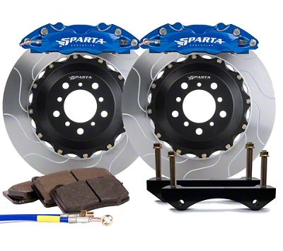 Sparta Evolution Triton Front Big Brake Kit w/ Castellated Pistons - Anodized Signature Blue (05-14 All)