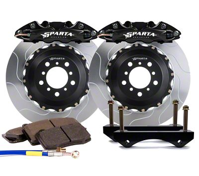 Sparta Evolution Triton Front Big Brake Kit w/ Castellated Pistons - Black (05-14 All)