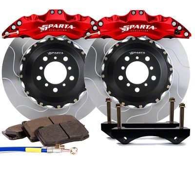 Sparta Evolution Triton Front Big Brake Kit w/ Castellated Pistons - Red (05-14 All)