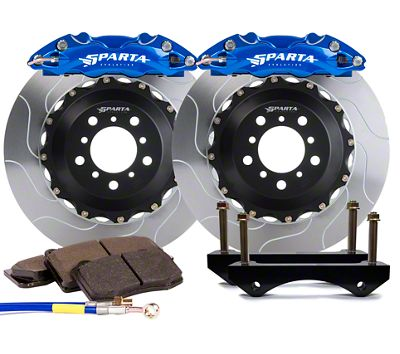 Sparta Evolution Triton Front Big Brake Kit w/ Castellated Pistons - Signature Blue (05-14 All)