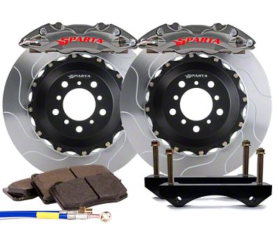Sparta Evolution Triton Front Big Brake Kit w/ Castellated Pistons - Stealth Gray (05-14 All)