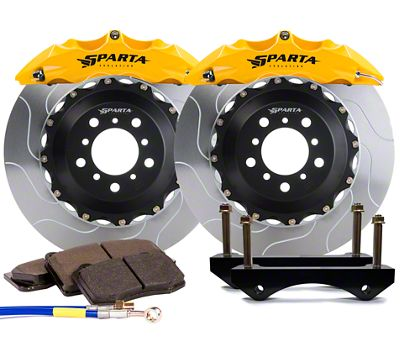 Sparta Evolution Triton Front Big Brake Kit w/ Castellated Pistons - Yellow (05-14 All)
