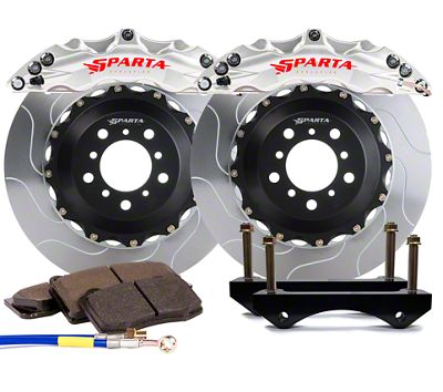 Sparta Evolution Triton Front Big Brake Kit - Machined Silver (15-19 All)
