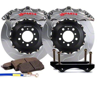 Sparta Evolution Triton Front Big Brake Kit - Stealth Gray (15-19 All)