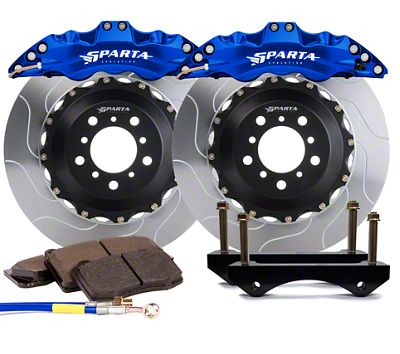 Sparta Evolution Triton-R Front Big Brake Kit w/ Castellated Pistons - Anodized Signature Blue (05-14 All)