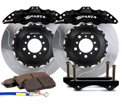 Sparta Evolution Triton-R Front Big Brake Kit w/ Castellated Pistons - Black (05-14 All)