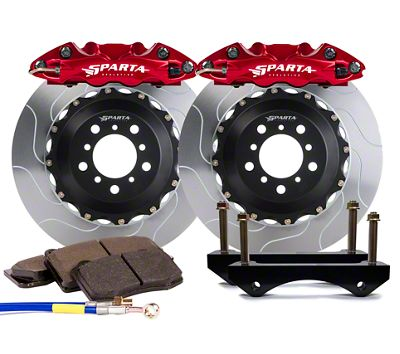 Sparta Evolution Triton-R Front Big Brake Kit w/ Castellated Pistons - Red (05-14 All)