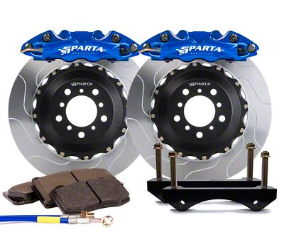 Sparta Evolution Triton-R Front Big Brake Kit w/ Castellated Pistons - Signature Blue (05-14 All)