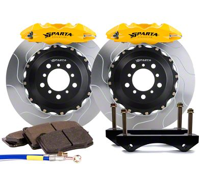 Sparta Evolution Triton-R Front Big Brake Kit w/ Castellated Pistons - Yellow (05-14 All)