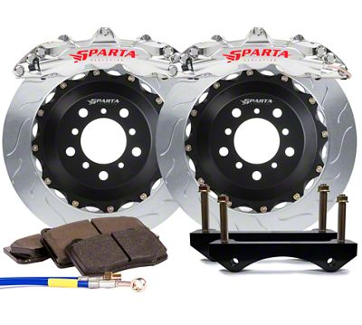 Sparta Evolution Triton-R Front Big Brake Kit - Machined Silver (15-19 All)
