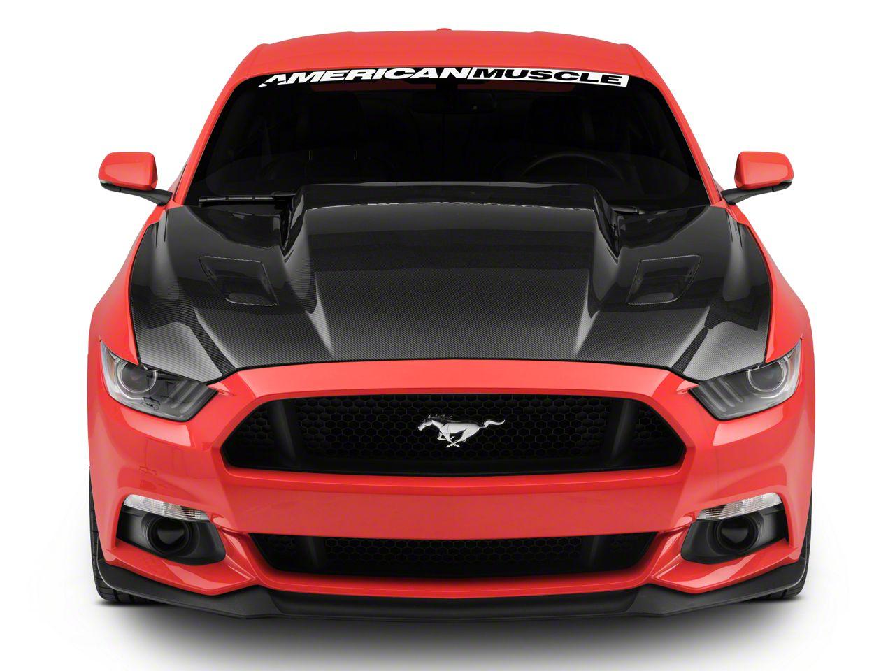 Anderson Composites 3 in. Cowl Hood - Carbon Fiber (15-17 GT, EcoBoost, V6)