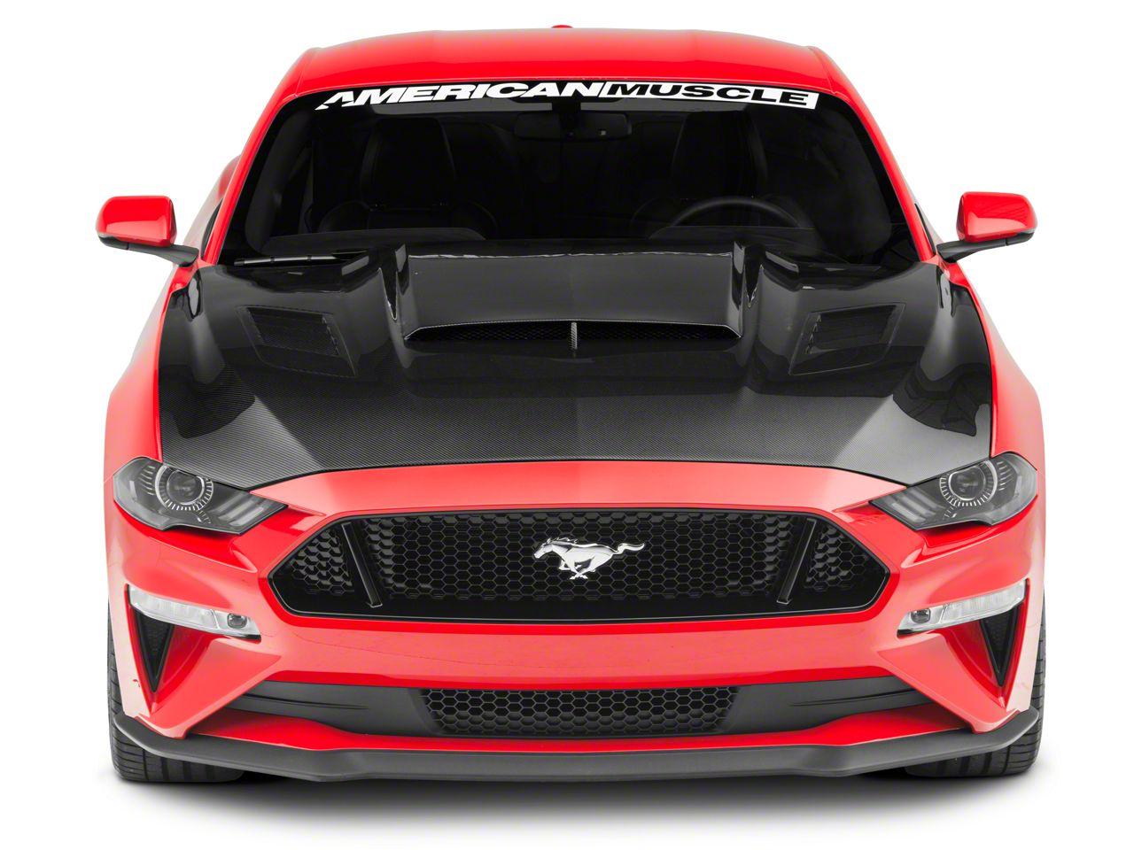 Anderson Composites Ram Air Hood - Carbon Fiber (18-19 GT, EcoBoost)