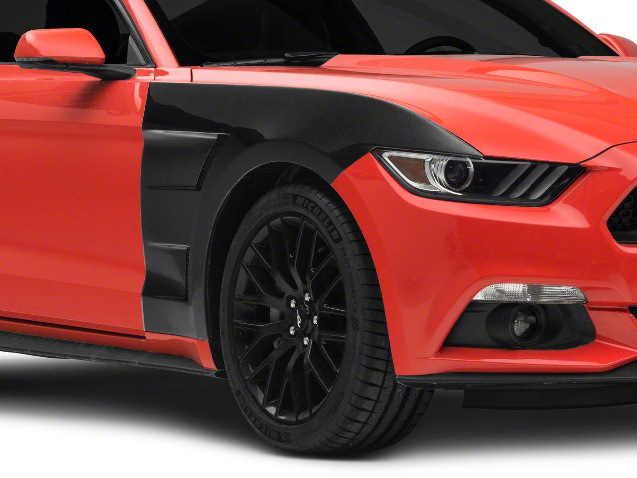 Anderson Composites Type-AT Front Fenders - Carbon Fiber (15-17 GT, EcoBoost, V6)