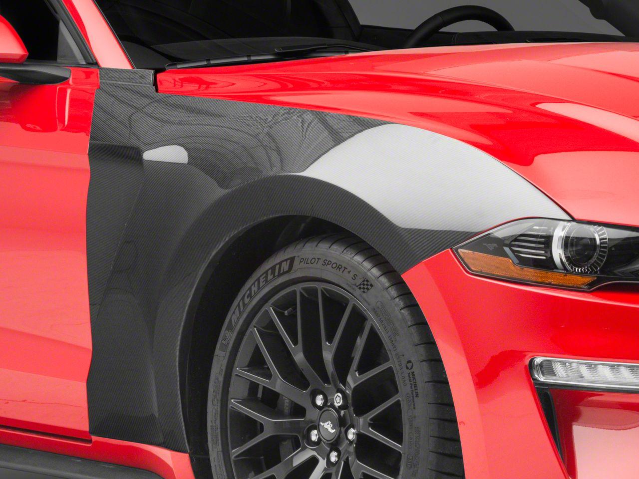Anderson Composites Type-GR GT350 Style Front Fenders - Carbon Fiber (18-19 GT, EcoBoost)