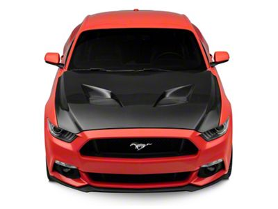 Anderson Composites Type-TT Hood - Double Sided Carbon Fiber (15-17 GT, EcoBoost, V6)