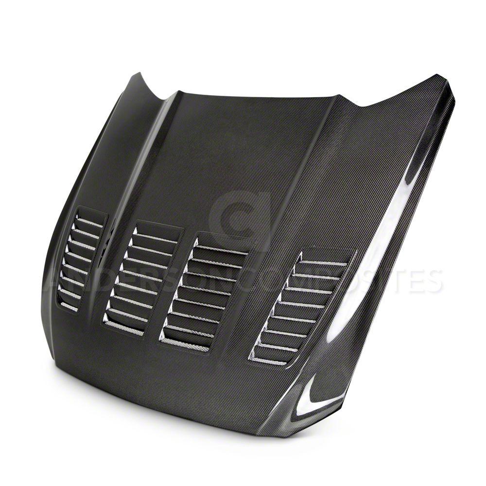 Anderson Composites Type-TW Hood - Carbon Fiber (15-17 GT, EcoBoost, V6)