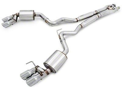 AWE SwitchPath Cat-Back Exhaust w/ Chrome Silver Tips (15-17 GT Premium Fastback w/ MP Concepts GT350 Style Rear Diffuser)