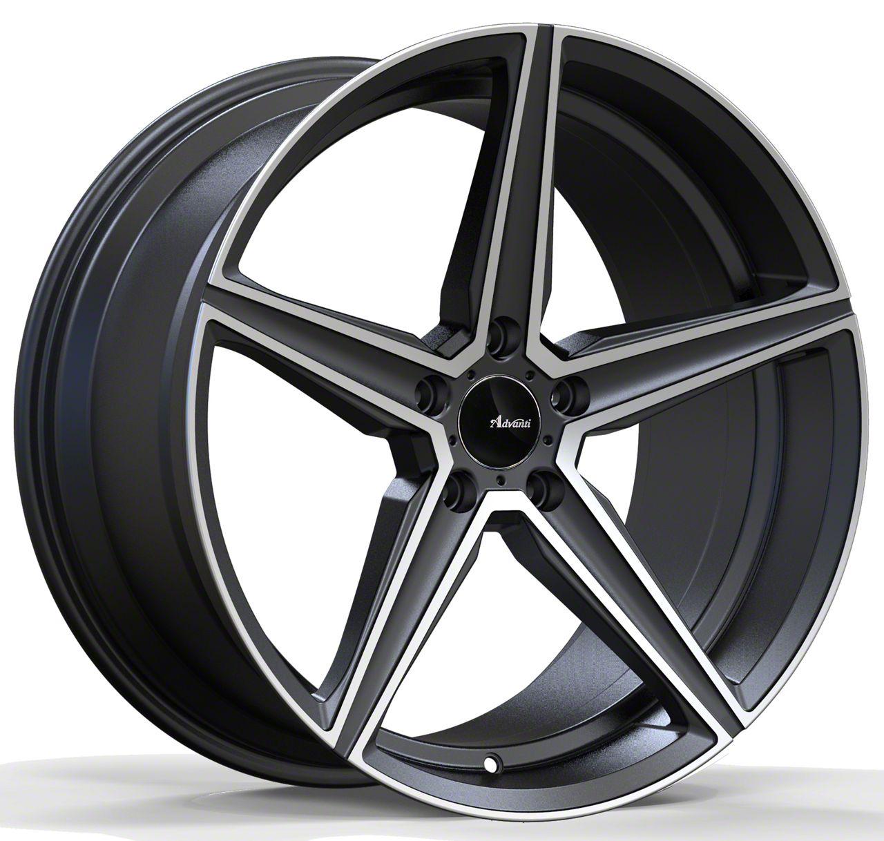 Advanti Cammino Matte Gunmetal w/ Machined Face Wheel - 20x10 (15-19 GT, EcoBoost, V6)