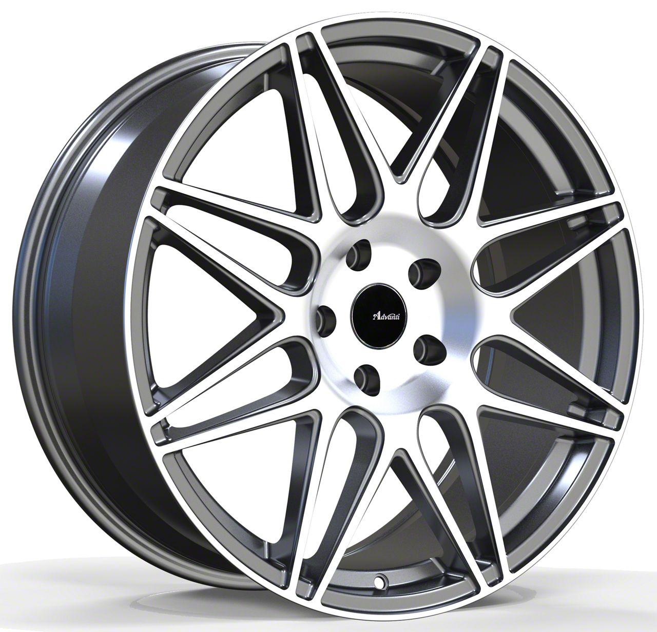 Advanti Classe Matte Gunmetal w/ Machined Face Wheel - 18x9 (05-14 Standard GT, V6)